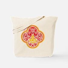 Red Four Leaf Tote Bag