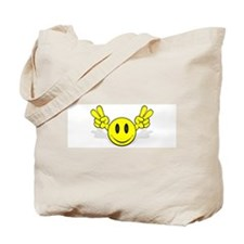 Happy Face Peace Tote Bag