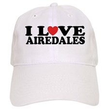 I Love Airedales Baseball Cap