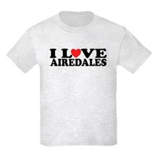 I Love Airedales T-Shirt