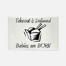 Babies are Born Rectangle Magnet