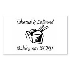 Babies are Born Rectangle Decal