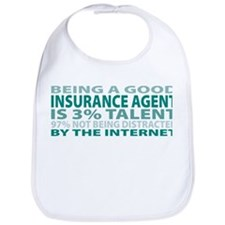 Cute Insurance agent Bib
