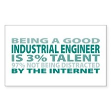 Good Industrial Engineer Rectangle Sticker 50 pk)