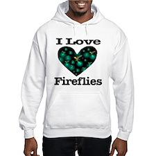 I Love Fireflies Midnight Hea Hoodie