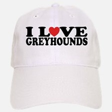 I Love Greyhounds Baseball Baseball Cap