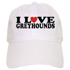 I Love Greyhounds Baseball Cap
