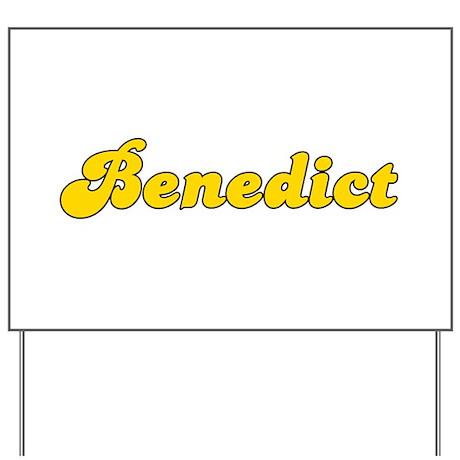Retro Benedict (Gold) Yard Sign