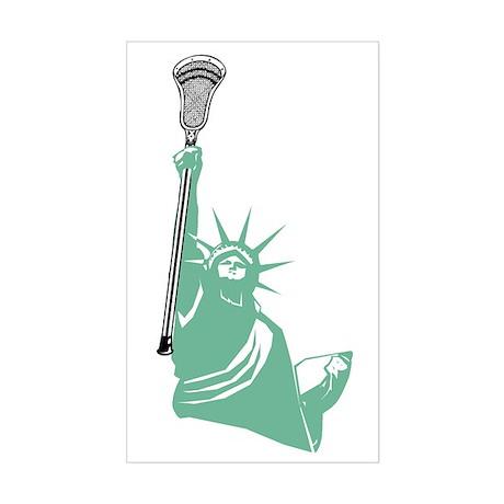 Lacrosse Liberty Rectangle Sticker