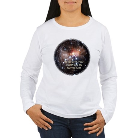 Psalm 33:6 Women's Long Sleeve T-Shirt