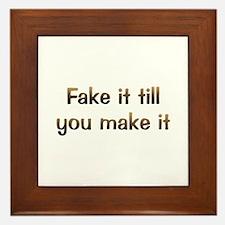 CW Fake It Framed Tile