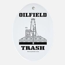 Oilfield Trash Oval Ornament