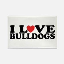 I Love Bulldogs Rectangle Magnet