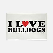 I Love Bulldogs Rectangle Magnet (100 pack)