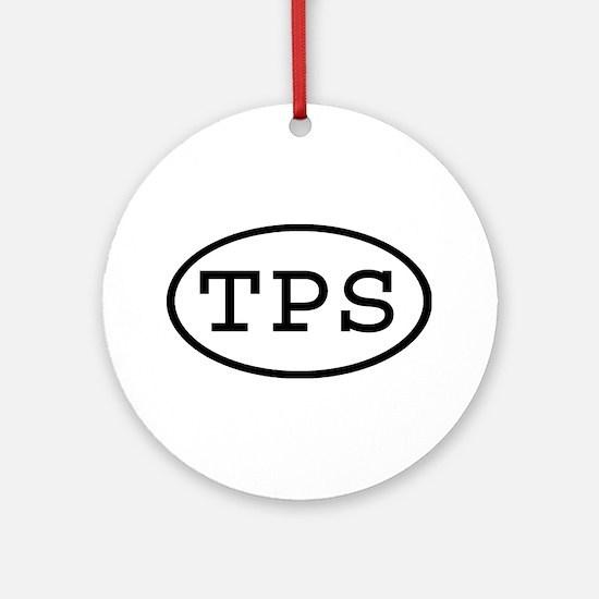 TPS Oval Ornament (Round)