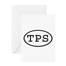 TPS Oval Greeting Card