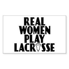 Lacrosse RealWomen Rectangle Decal