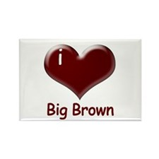 I heart Big Brown Rectangle Magnet