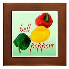 Bell Peppers Framed Tile