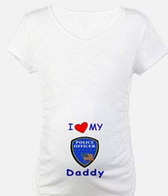 I Love Police Officer Daddy Shirt
