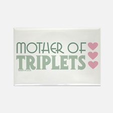 Mother Of Triplets Rectangle Magnet