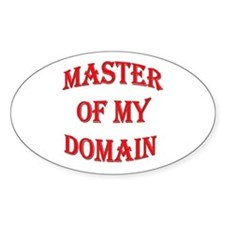 Master of My Domain Oval Decal