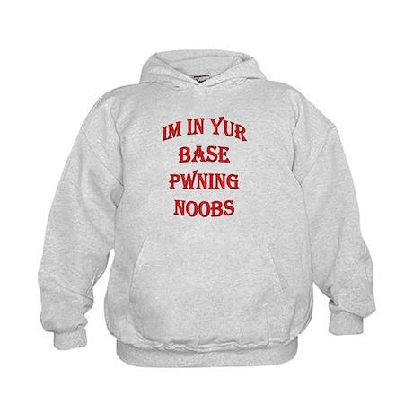 In Yur Base Pwning Noobs Kids Hoodie