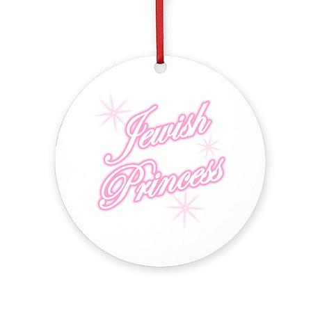 Jewish Princess - Pink Ornament (Round)