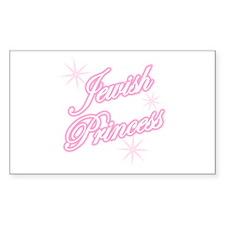 Jewish Princess - Pink Rectangle Decal