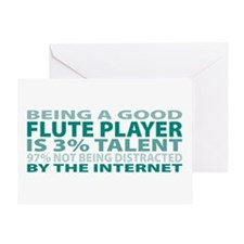 Good Flute Player Greeting Card