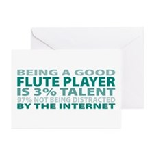 Good Flute Player Greeting Cards (Pk of 10)