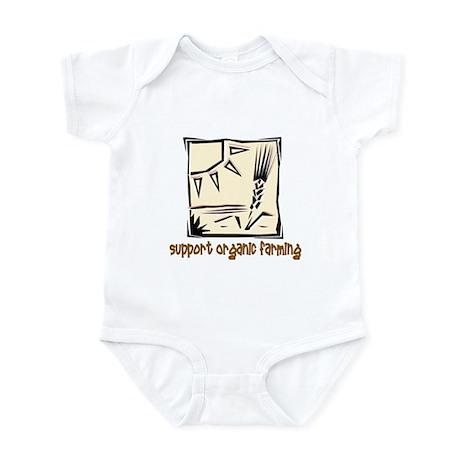 Support Organic Farming Infant Bodysuit