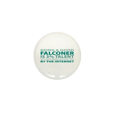Good Falconer Mini Button