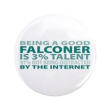 """Good Falconer 3.5"""" Button"""
