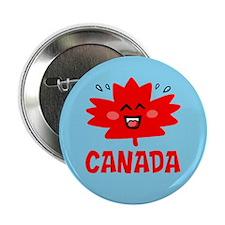 "Canadian Maple Leaf 2.25"" Button"