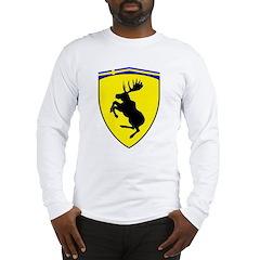 Prancing Moose Long Sleeve Shirt, 10 inch moose