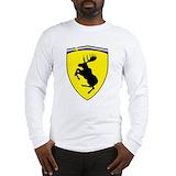 Prancing moose Long Sleeve T Shirts