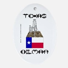 Texas Oilman Oval Ornament