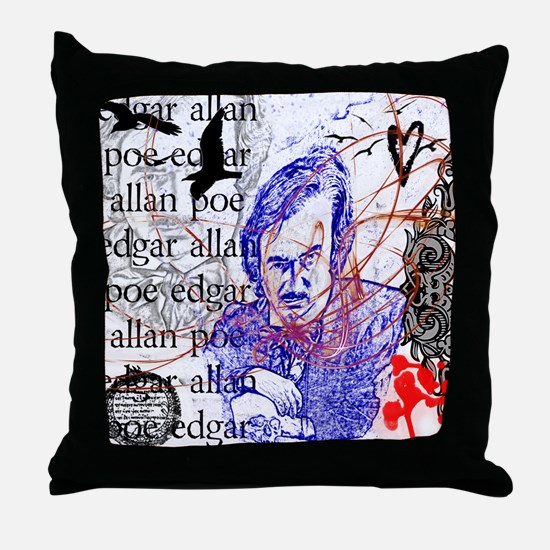 Haunted Poe Throw Pillow