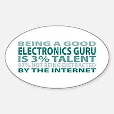 Good Electronics Guru Oval Decal