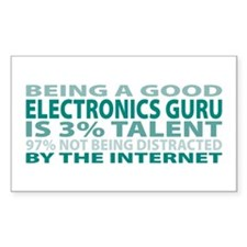 Good Electronics Guru Rectangle Decal