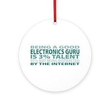 Good Electronics Guru Ornament (Round)