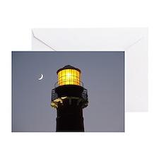 Greeting Cards (Pk of 10) Barnegat Light w/ moon