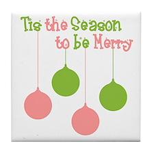 Christmas Holiday Tile Coaster