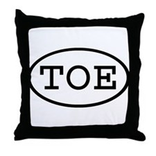 TOE Oval Throw Pillow