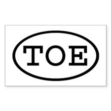 TOE Oval Rectangle Decal