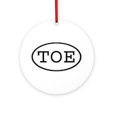 TOE Oval Ornament (Round)