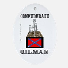 Confederate Oilman Oval Ornament