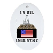 US Oil Oval Ornament