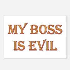 My Boss is Evil Postcards (Package of 8)